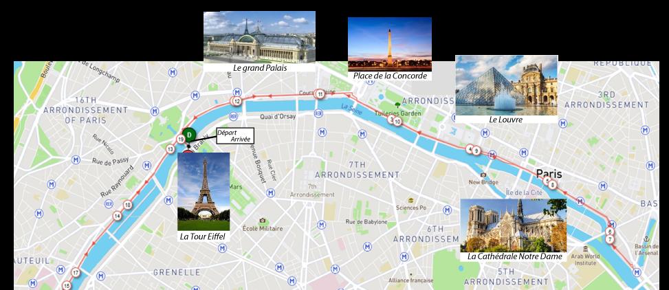 parcours-Paris roller Marathon